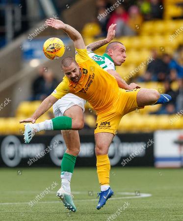 Scott Robinson of Livingston & Celtic captain Scott Brown