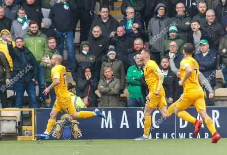 Stock Picture of Scott Robinson of Livingston celebrates scoring to give Livingston a 1-0 lead.