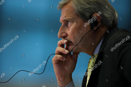 European Commissioner designate for Budget and Administration Johannes Hahn listens to a question during his hearing at the European Parliament in Brussels