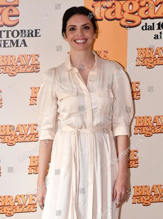 Ilenia Pastorelli poses during the photocall for ''Brave ragazze'' in Rome, Italy, 03 October 2019. The movie opens in Italian theaters on 10 October.