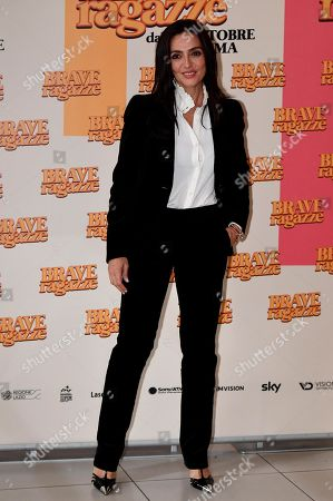 Ambra Angiolini poses during the photocall for ''Brave ragazze'' in Rome, Italy, 03 October 2019. The movie opens in Italian theaters on 10 October.