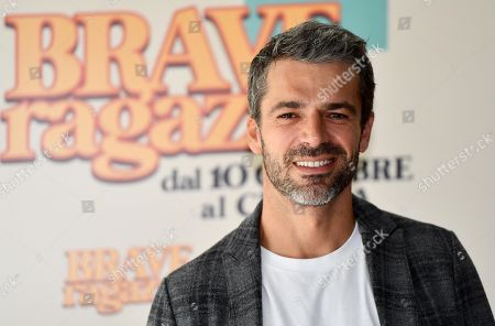 Stock Picture of Luca Argentero poses during a photo call for the movie 'Brave ragazze' in Rome, Italy, 03 October 2019. The film will be shown Italian movie theaters from 10 October 2019 on.