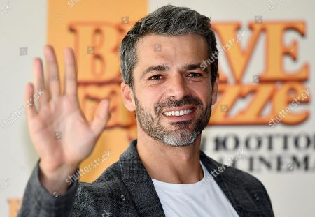 Luca Argentero poses during a photo call for the movie 'Brave ragazze' in Rome, Italy, 03 October 2019. The film will be shown Italian movie theaters from 10 October 2019 on.