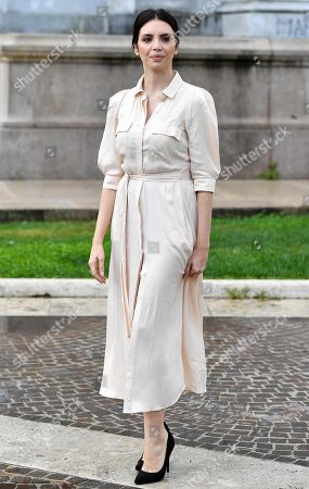 Ilenia Pastorelli poses during a photo call for the movie 'Brave ragazze' in Rome, Italy, 03 October 2019. The film will be shown Italian movie theaters from 10 October 2019 on.