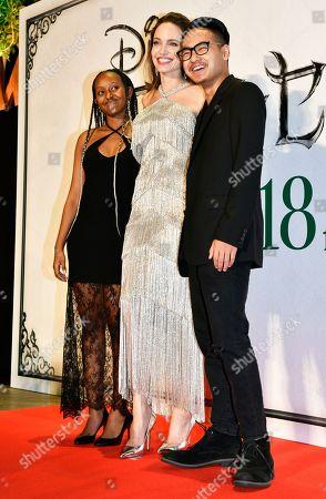 Angelina Jolie, Zahara Jolie-Pitt and Maddox Jolie-Pitt