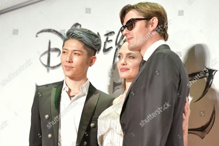 Miyavi, Angelina Jolie and Sam Riley