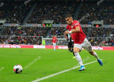 6th October 2019, St. James's Park, Newcastle, England; Premier League, Newcastle United v Manchester United : Andreas Pereira (15) of Manchester United looks to cross the ball  Credit: Conor Molloy/News Images