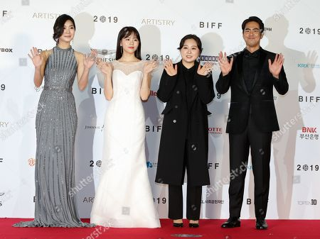 South Korean actress Han Woo-yeon, Jung Da-eun South Korean director Park Sun-joo and South Korean actor Jeon Suk-ho arrive for the opening ceremony of the 24th Busan International Film Festival (BIFF) plaza in Busan, South Korea, 03 October 2019. The BIFF will screen 303 films from 85 countries and will runs from 03 to 12 October 2019.
