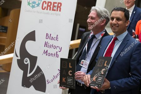 Black History Month photocall - Richard Leonard, Leader of the Scottish Labour Party, and Anas Sarwar