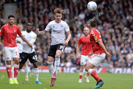 Stefan Johansen of Fulham in action during the Sky Bet Championship match between Fulham and Charlton Athletic at Craven Cottage in London, UK - 5th October 2019