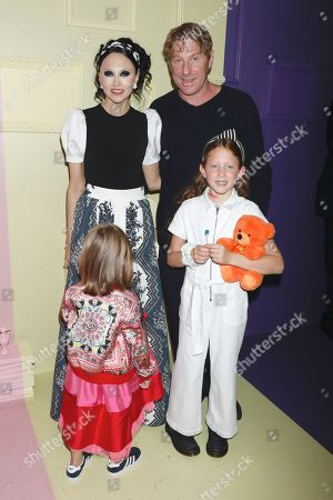 Stock Image of Stacey Bendet, Eric Eisner and kids