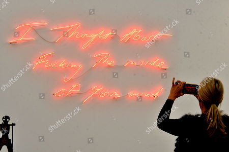 Tracey Emin, I Thought About Fucking The inside of Your mind, 2019, Xavier Hufkens Gallery
