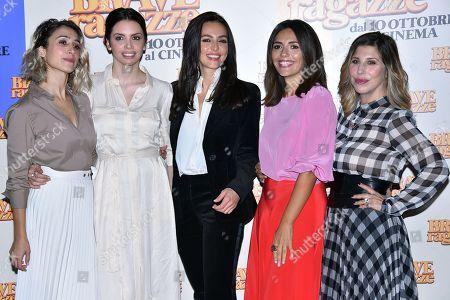 Silvia D'Amico with Ilenia Pastorelli Ambra Angiolini Serena Rossi and Michela Andreozzi