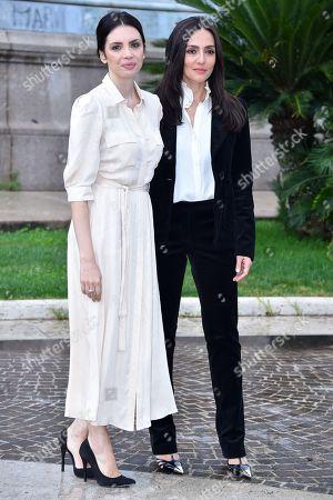 Stock Image of Ilenia Pastorelli and Ambra Angiolini