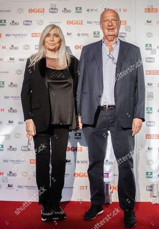 Stock Image of Mara Venier with husband Nicola Carraro