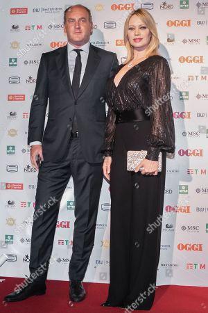 Anna Falchi and fiancee Andrea Ruggieri