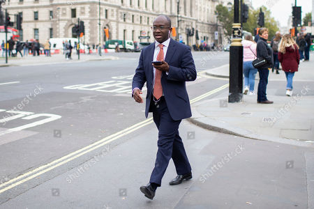 MP for East Surrey Sam Gyimah arrives at Parliament