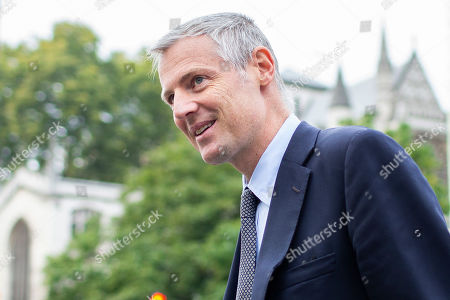 Minister of State at the Department for Environment, Food and Rural Affairs Zac Goldsmith arrives at Parliament