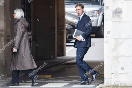 MP for Bournemouth East Tobias Ellwood walks in Parliament.