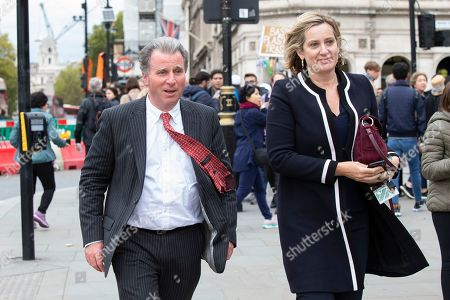 MP for West Dorset Sir Oliver Letwin (l) and MP for Hastings and Rye Amber Rudd (r) arrive at Parliament.