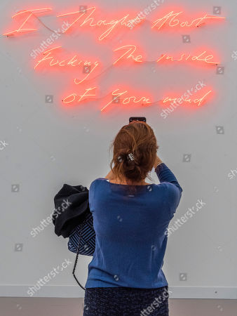 I thought about Fucking the Inside of your Mind,2019, by Tracey Emin in Xavier Hufkens