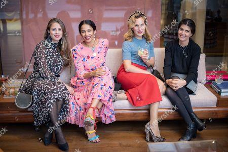 Lydia Forte, Saloni Lodha, Charlotte Dellal and Jenny Simpson