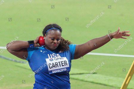 Michelle Carter (USA), Shot Put Women Final, during the 2019 IAAF World Athletics Championships at Khalifa International Stadium, Doha