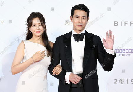 Lee Ha-nee and Jung Woo-sung
