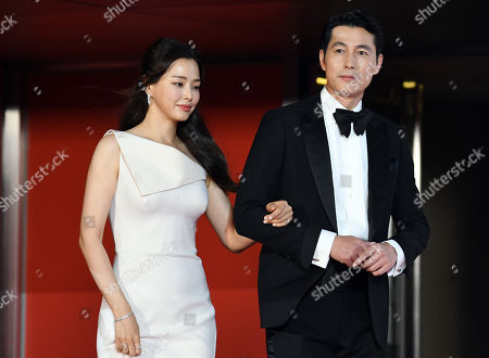 Stock Photo of Lee Ha-nee and Jung Woo-sung