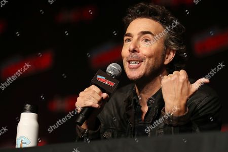 "Shawn Levy speaks on stage during the 20th Century Fox Panel: An Insider's Look at ""The King's Man"" and ""Free Guy"" on the first day of New York Comic Con, in New York"