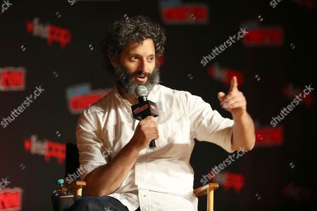 """Stock Photo of Jason Mantzoukas speaks on stage during the """"Netflix Presents: Big Mouth"""" panel at the Javits Center on the first day of New York Comic Con, in New York"""