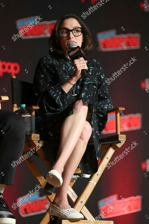"""Jessi Klein speaks on stage during the """"Netflix Presents: Big Mouth"""" panel at the Javits Center on the first day of New York Comic Con, in New York"""