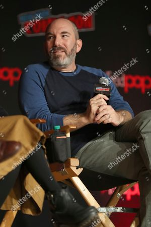 "Stock Photo of Andrew Goldberg speaks on stage during the ""Netflix Presents: Big Mouth"" panel at the Javits Center on the first day of New York Comic Con, in New York"