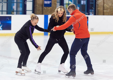 Caprice Bourret, Jayne Torvill and Christopher Dean