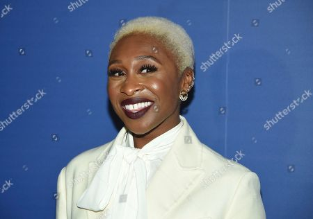 "Stock Photo of Cynthia Erivo at The Hollywood Foreign Press Association and The Hollywood Reporter's Toronto International Film Festival party in Toronto. Erivo will play Aretha Franklin in a third installment of the National Geographic anthology series ""Genius."" Production on ""Genius: Aretha"" will begin next month and the series is expected to debut next spring"