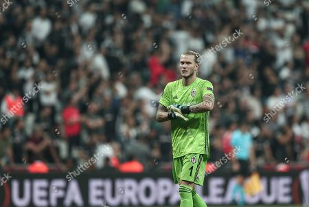 Besiktas Istanbul goalkeeper Loris Karius during the UEFA Europa League group K soccer match between Besiktas Istanbul and Wolverhampton Wanderers in Istanbul, Turkey, 03 October 2019.