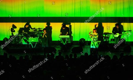 Editorial image of Ladytron in concert at Brooklyn Steel, New York, USA - 03 Oct 2019