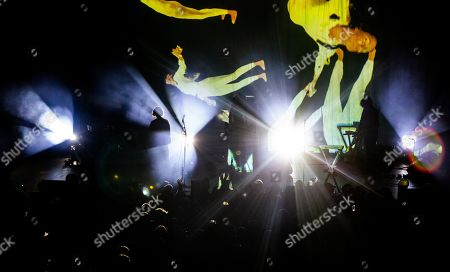 Editorial photo of Ladytron in concert at Brooklyn Steel, New York, USA - 03 Oct 2019