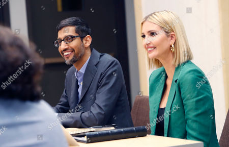 Ivanka Trump, Sundar Pichai. White House senior adviser Ivanka Trump, right, and Google CEO Sundar Pichai listen during a roundtable discussion at El Centro College in Dallas,. Pichai announced that Google is committing to a White House initiative designed to get private companies to expand job training for American workers