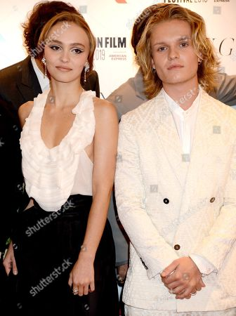 Lily-Rose Depp and Tom Glynn-Carney