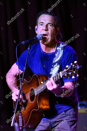 Dennis Quaid performs at the after party for the Brent Sopel Annual Celebrity Golf Tournament at the Quarry Pub & Grill, in Chicago