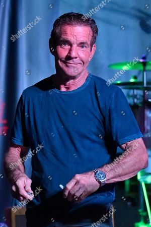 Stock Photo of Dennis Quaid performs at the after party for the Brent Sopel Annual Celebrity Golf Tournament at the Quarry Pub & Grill, in Chicago