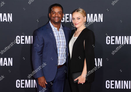 Stock Image of Alfonso Ribeiro and Angela Unkrich