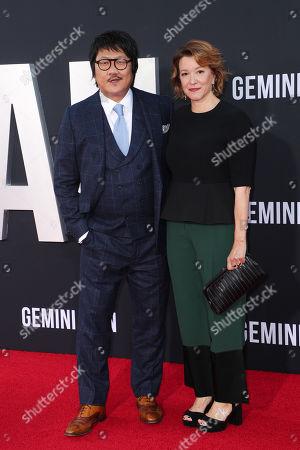 Benedict Wong and Linda Emond