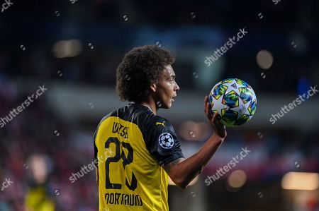 Axel Witsel from Borussia Dortmund holds a ball-