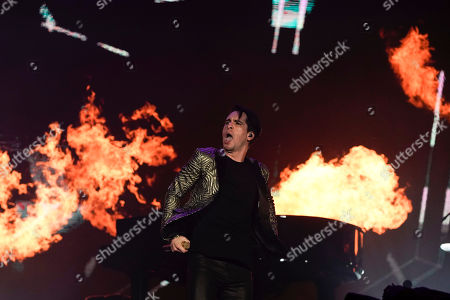 Brendon Urie of the Panic! at the Disco performs at the Rock in Rio music festival in Rio de Janeiro, Brazil