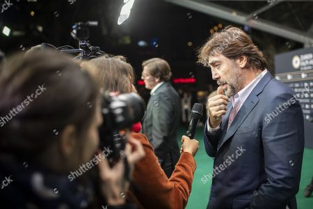 Spanish actor and environmental activist Javier Bardem speaks to the media on the Green Carpet during the 15th Zurich Film Festival (ZFF) in Zurich, Switzerland, 03 October 2019. The festival runs from 26 September to 06 October 2019.