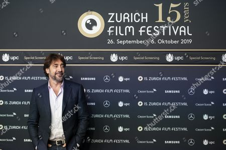 Spanish actor and environmental activist Javier Bardem poses on the Green Carpet during the 15th Zurich Film Festival (ZFF) in Zurich, Switzerland, 03 October 2019. The festival runs from 26 September to 06 October 2019.