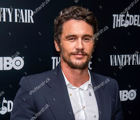 "James Franco at the premiere of HBO's ""The Deuce"" third and final season in New York. Two actresses have sued Franco and his former acting and film school, saying they were pushed into gratuitous and exploitative sexual situations as his students"