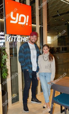 Stock Image of Ryan Libbey and Louise Thompson attend the opening of YO! Kitchen to celebrate the launch of YO!'s new dining concept and first full-service restaurant.
